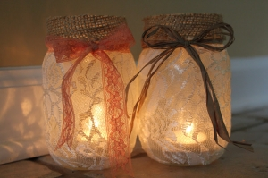 Mason Jar Luminaries (credit: AdventuresOfAMiddleSister.Blogspot.com)