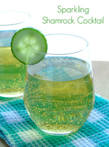 Votivo candles and Sparkling Shamrock Cocktail St Patrick's Day
